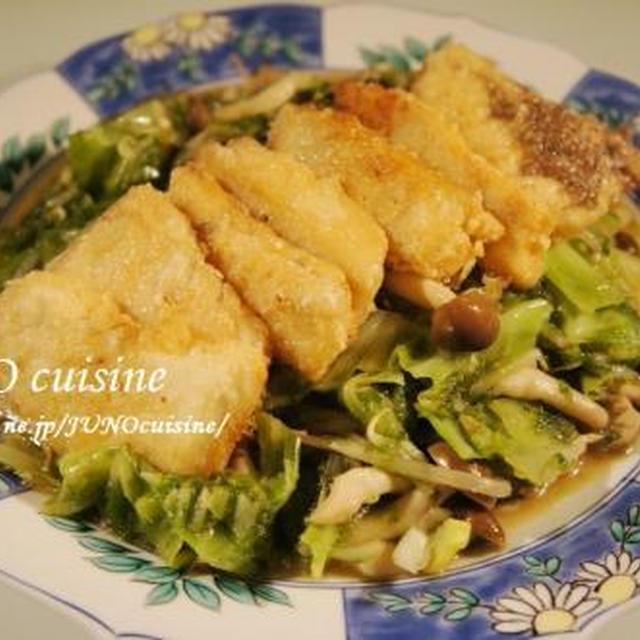 ☆めかじきの生姜焼き~アーサ入りたっぷり野菜炒めと共に~☆