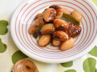 >【レシピ】調理時間3分!とら豆の酢漬け by ayakaさん