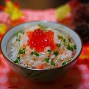 白だしで紅鮭の炊き込みごはん♪掲載されます~♪【ホットケーキミックス…】