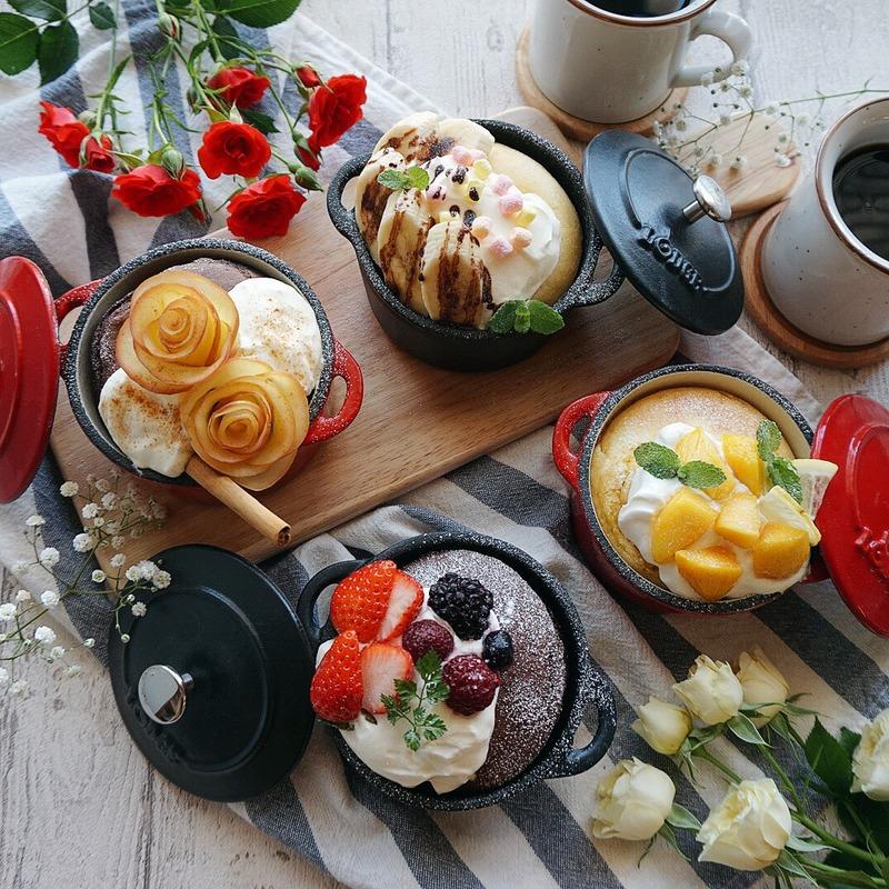 ふわふわモチモチ♪「#ココットパンケーキ」のレシピ