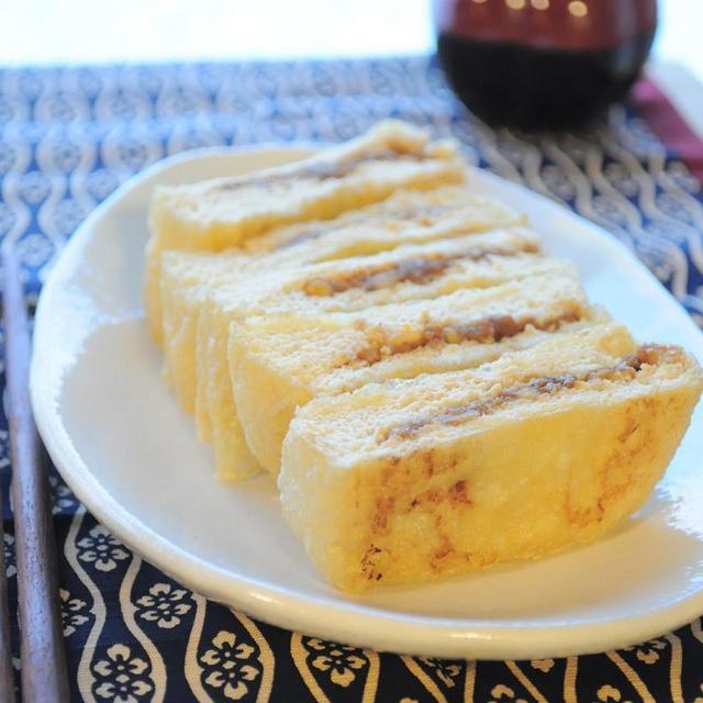 ふんわりお揚げのくるみ味噌サンド & かぶのバーベQソテー