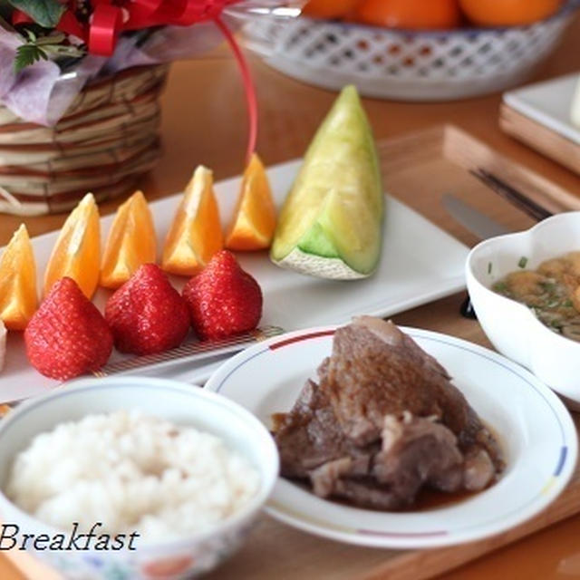12月14日(月) フルーツ尽くしの朝食