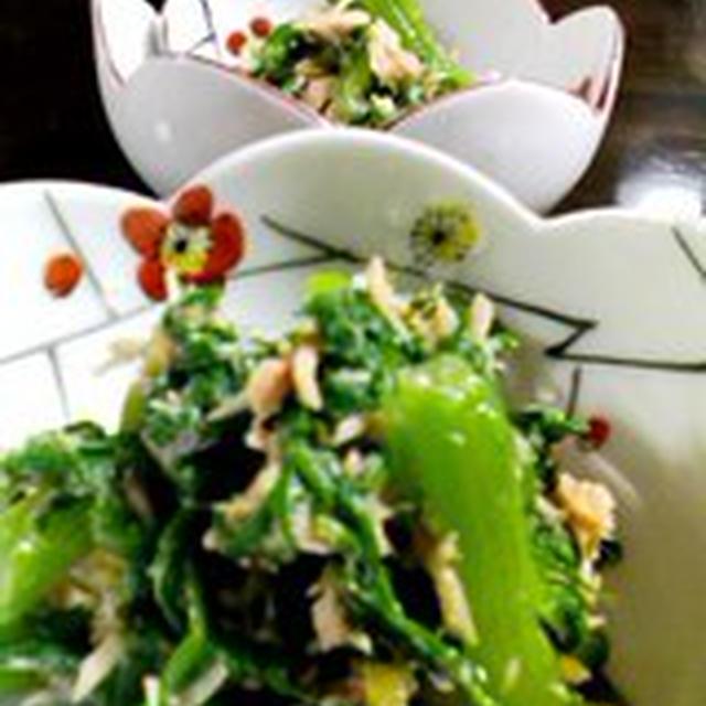 「わさび菜とツナのサラダ」