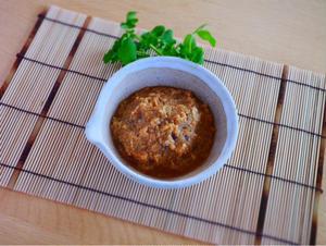 おにぎりに塗る生姜味噌レシピです。好みの味噌70g、すりおろし生姜30g、砂糖小さじ1.5くらいの割...