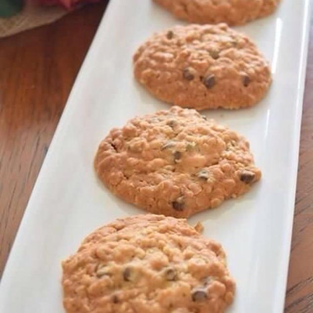 オートミールチョコチップクッキー  食物繊維たっぷりのダイエットおやつ