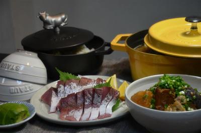 ストウブで「豚汁」と「じゃがいもの煮物」