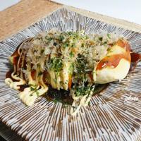 ±0暮らしのレポーター:レンチン長芋のお好み焼き風