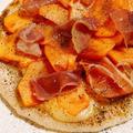 柿と生ハムのピッツア