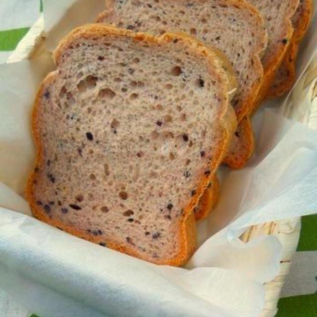 HBでモッチリ黒米パン