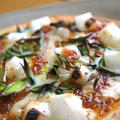 もちっとろ~り♡葉にんにくの醤油麹餅ピザ by chocofy69さん