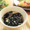 【あっさりなめたけ】×わかめの即席スープ