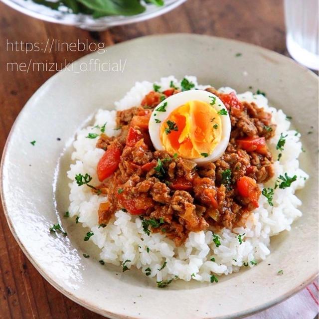 ♡煮込み3分♡トマトキーマカレー♡【#ひき肉#トマト#簡単レシピ#時短#節約】