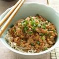 ヘルシー素麺のおろし納豆がけ by オチケロンさん