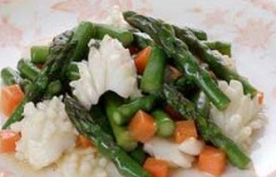 今宵の肴 @ アスパラガスとイカの炒め物