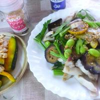 夏野菜とたこの♪イタリアンマリネ★&かぼちゃのスパイスバタそぼろのせ★