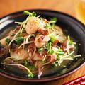 ホタテと生キクラゲの酢の物、生キクラゲは30秒茹でれば大丈夫