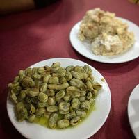 そら豆と生ハムの炒め物/Habas con jamon