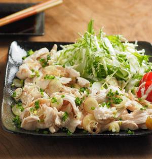 鶏むね肉のしゃぶしゃぶ風サラダ