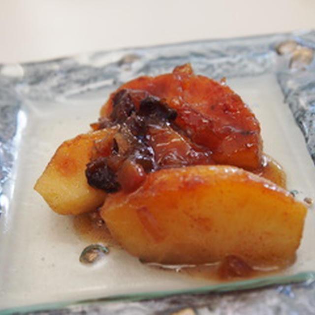 フライパンで簡単、焼きリンゴ