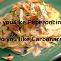 【ベジヌードルで美味しくカロリーオフ】ペペロンチーノカルボナーラ