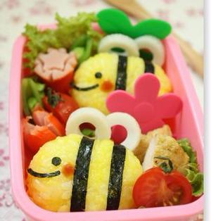 【作り方】簡単!ミツバチさんのお弁当。