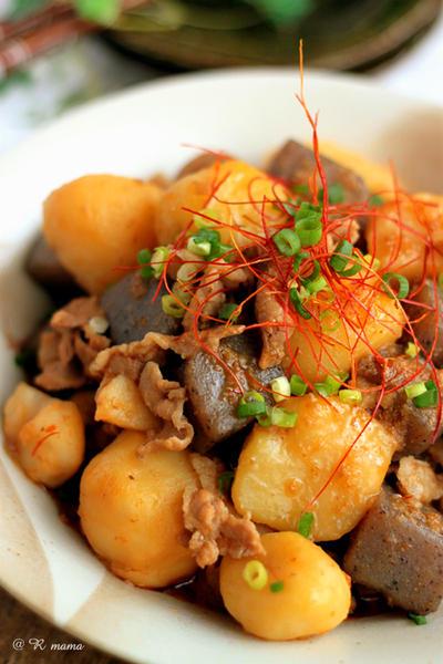 豚バラ蒟蒻とじゃが芋の中華肉じゃが~お家ご飯~