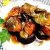 鮭と茄子のガリポン焼き