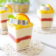オレンジチーズのアイスケーキ