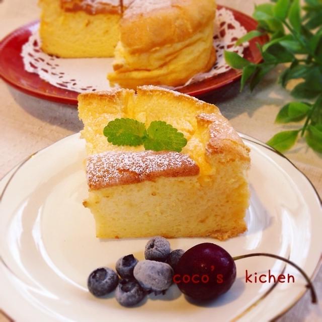スライスチーズ de スフレチーズケーキ