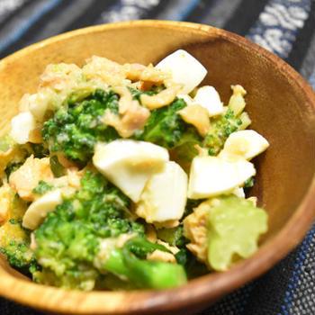 ブロッコリーと卵のツナサラダ【ぐんまクッキングアンバサダー】マヨネーズ不使用でさっぱり大人味のおつまみ。