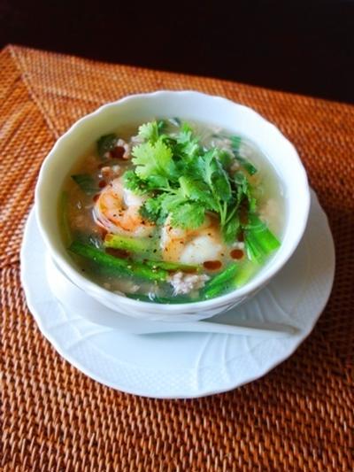 人気検索1位感謝☆海老のエスニック風春雨スープ