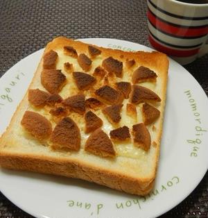 超!簡単すぎ♪メロンパン風チーズトースト