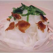 ピーラー大根の梅しそサラダ