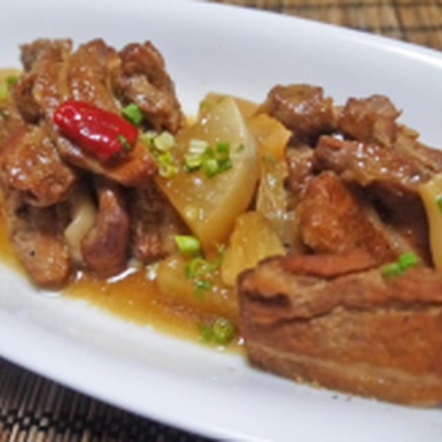 豚ばら肉と大根の酢っ唐煮