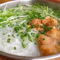 から揚げと水菜の塩ゆずこしょう鍋