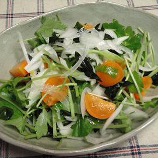 ☆三つ葉とフルーツ玉ねぎのサラダ☆