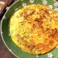 美味しさウザギ跳び。カレーモヤシのツナ満月お好み焼き。(糖質6.2g) by ねこやましゅんさん
