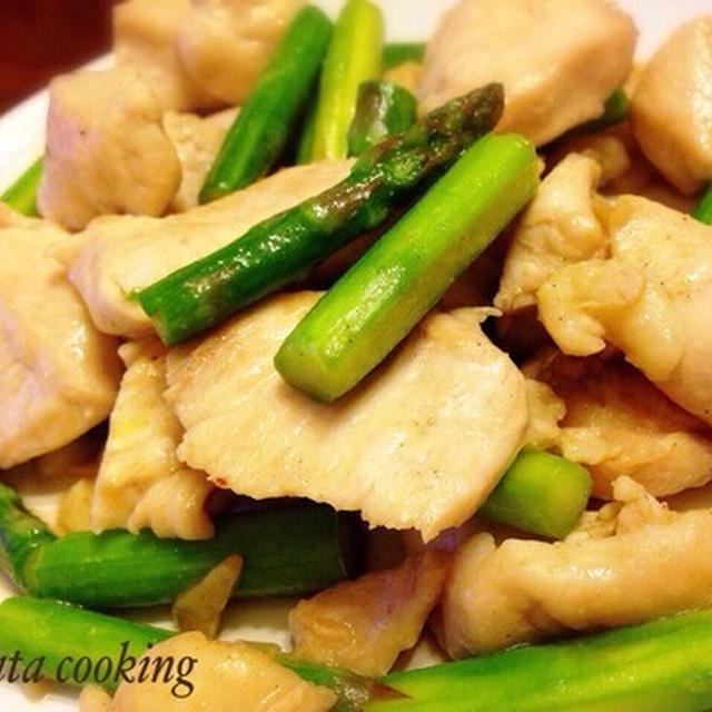 鶏ムネ肉アスパラ塩炒め Aikata cooking♪ 鶏肉人気ですね〜最近のクックパッド TOP3