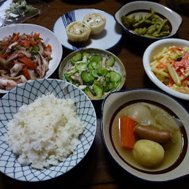 いか野菜炒め