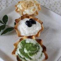 餃子の皮で☆豆乳クリームのタルト風~和三昧~