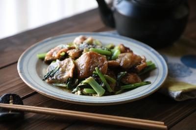 魚を食べようシリーズ!!!いわしと小松菜のオイマヨ炒め