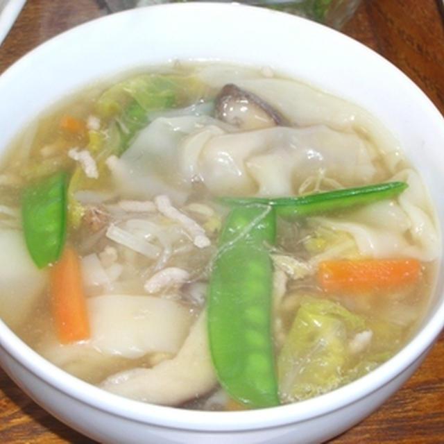 給食のワンタンスープ