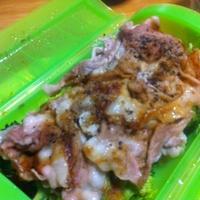 ブロッコリー豚肉蒸し。