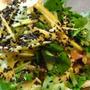 #366 豆腐ミョウガ三つ葉の生姜ドレッシングサラダ
