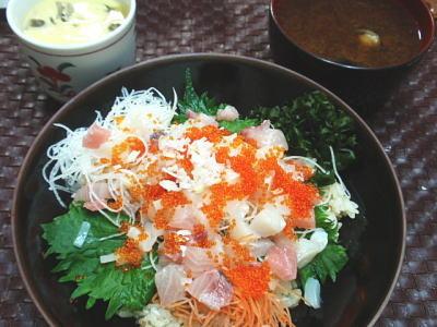 ちらし寿司御膳-茶碗蒸し・しじみのお味噌汁付(簡易レシピ付)
