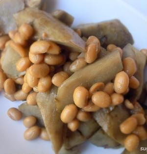 レシピ ごぼうと茹で大豆のコンソメ煮
