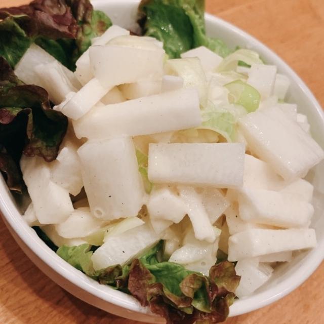 「これ!うま!!つゆ」で大根と長芋の即席シャキシャキサラダ