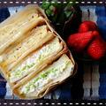 春キャベツた~っぷり使った野菜サンド&厚焼きたまごサンドウィッチ弁当です♡(*´ー`*) by 笑さん