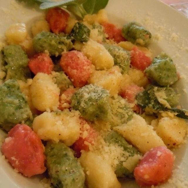 イタリアンカラーのニョッキをサルヴィア・バターのシンプルソースで~