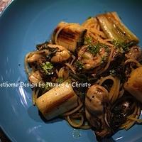 ◆旬の牡蛎とねぎのペペロンチーノ